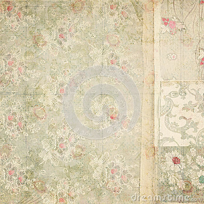 Free Antique Vintage Floral Wallpaper Collage Background Stock Image - 38262541