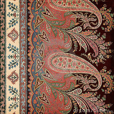 Free Antique Vintage Paisley Indian Background Stock Images - 23163084