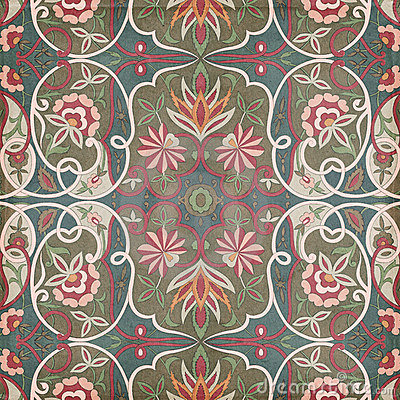 Free Antique Vintage Paisley Indian Background Stock Images - 23163104