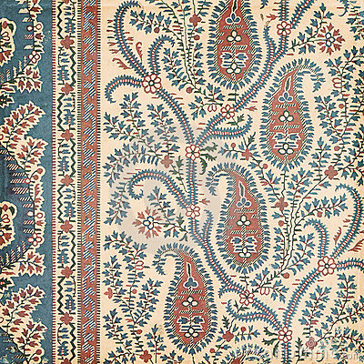 Free Antique Vintage Paisley Indian Background Royalty Free Stock Photography - 23163107