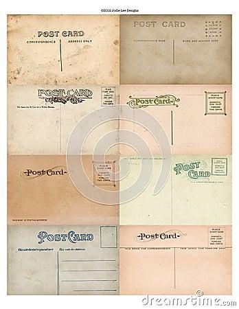 Antique Vintage Postcard Set of 8