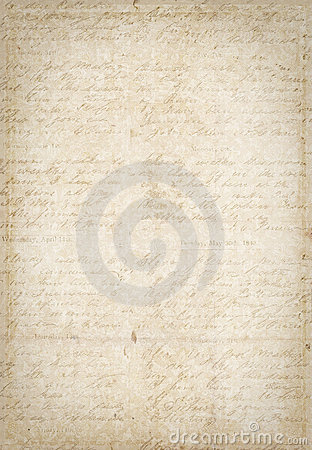 Antique vintage textured paper with script