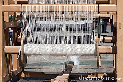 Antique weaving machine