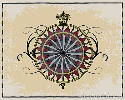 Antique wind rose
