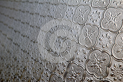 Pattern On Antique Window Glass Stock Image - Image: 24862781
