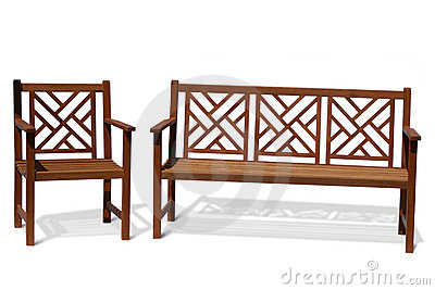 Wood Bench on Home   Royalty Free Stock Photo  Antique Wood Bench