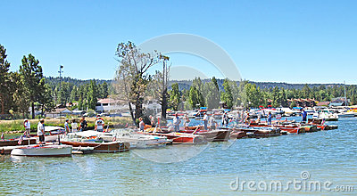 Antique Wooden Boat Show Editorial Photo