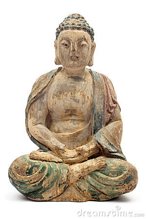Free Antique Wooden Buddha Royalty Free Stock Photography - 1312227