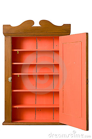 Free Antique Wooden Cabinet With Open Door Royalty Free Stock Image - 4638006