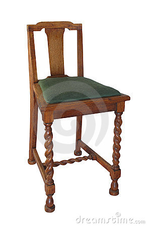 Antique wooden chair isolated.