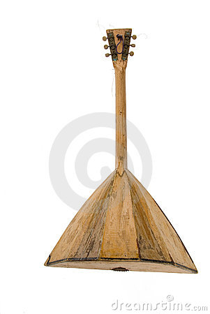 Antique wooden musical instrument