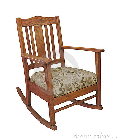 Antique Wooden Rocking Chair Isolated Stock Images Image