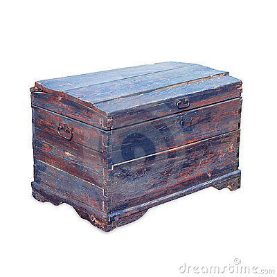 Antique wooden trunk