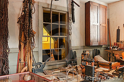 Antique workshop and tools
