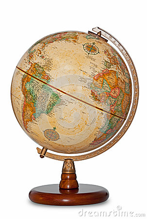 Free Antique World Globe Isolated Clipping Path. Stock Photography - 31146362