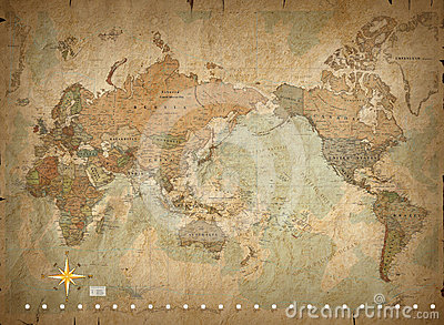 Antique world map Stock Photo