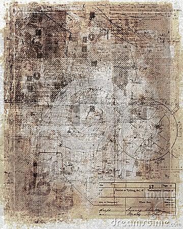 Antique, worn document