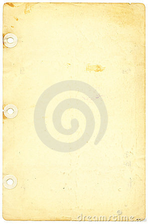 Antique,Yellowed Notebook Paper