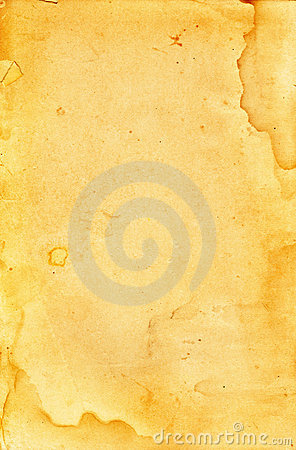 Antique,Yellowed and Stained Paper