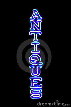 Antiques Neon Sign