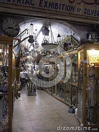 Antiques shop in Jerusalem