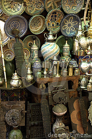 Antiques shop in Morocco