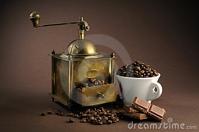 Antiquity coffee machine