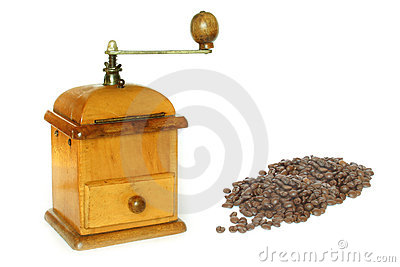 Antiquity coffee machine with Beans
