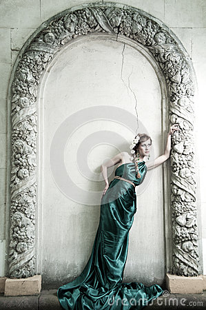 Antiquity. Portrait of attractive beautiful girl.