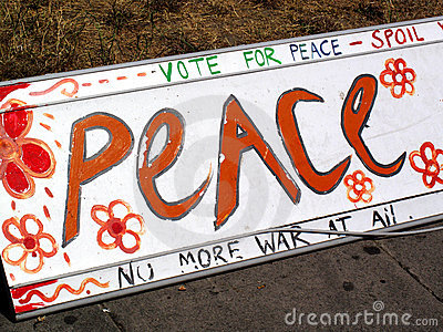 Antiwar peace sign