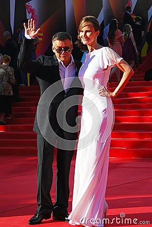 Anton Tabakov no festival de cinema de Moscovo Fotografia Editorial
