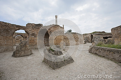 Antonine Thermae in Carthage, Tunis, Tunisia