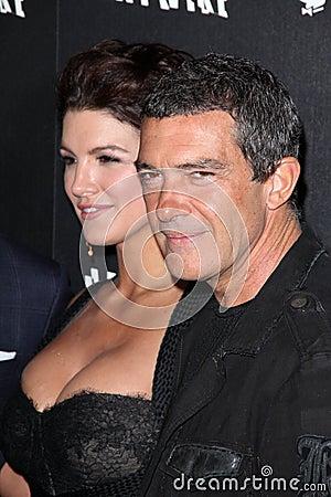Antonio Banderas, Gina Carano Editorial Stock Image