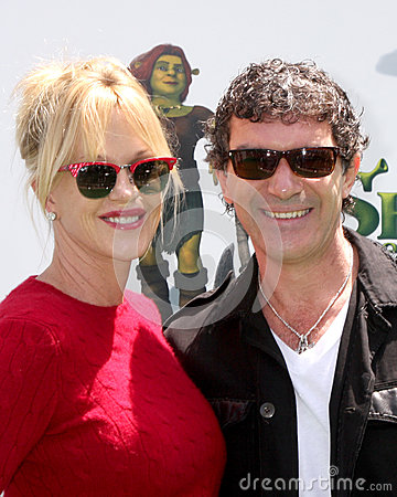 Antonio Banderas,Melanie Griffith Editorial Image