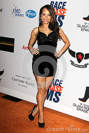 Antonique Smith arrives at the 19th Annual Race to Erase MS gala Editorial Stock Photo