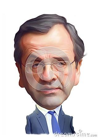 Antonis Samaras Caricature Portrait Redactionele Stock Foto - antonis-samaras-caricature-portrait-25323378