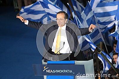 Antonis Samaras Greek Primeminister Editorial Stock Photo