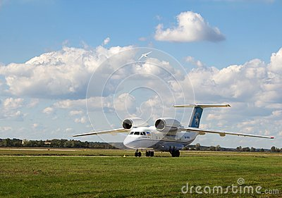Antonov An-158 Foto de Stock Editorial