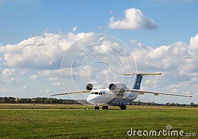 Antonov een-158 Redactionele Stock Foto