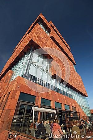The MAS museum in Antwerp Editorial Stock Image