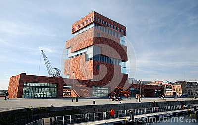 The MAS museum in Antwerp Editorial Stock Photo