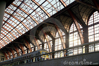 Antwerp train station Editorial Image