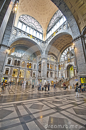 Antwerpen Railway Station Editorial Photo