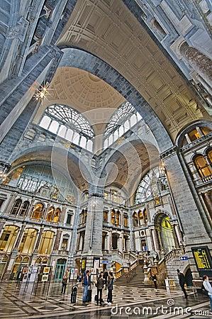 Antwerpen Railway Station Editorial Image