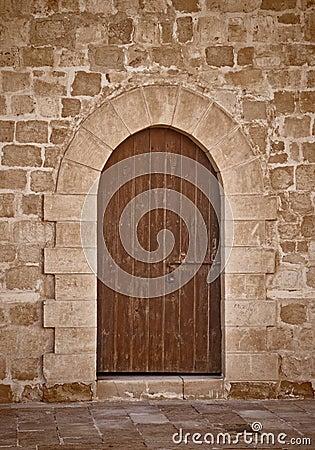 Antyczny grodowy drzwi