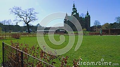Antyczny Rosenborg kasztel, renaissance budynek, dziejowy zwiedzający Dani zbiory