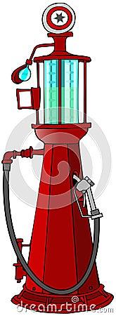 Antykwarska benzyny pompa