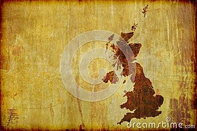 Antykwarski Britain wielki mapy styl