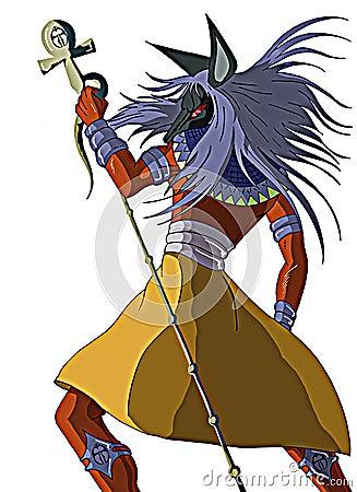 the Egyptian god Anubis isolated