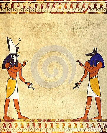 Free Anubis And Horus Royalty Free Stock Photos - 24018168